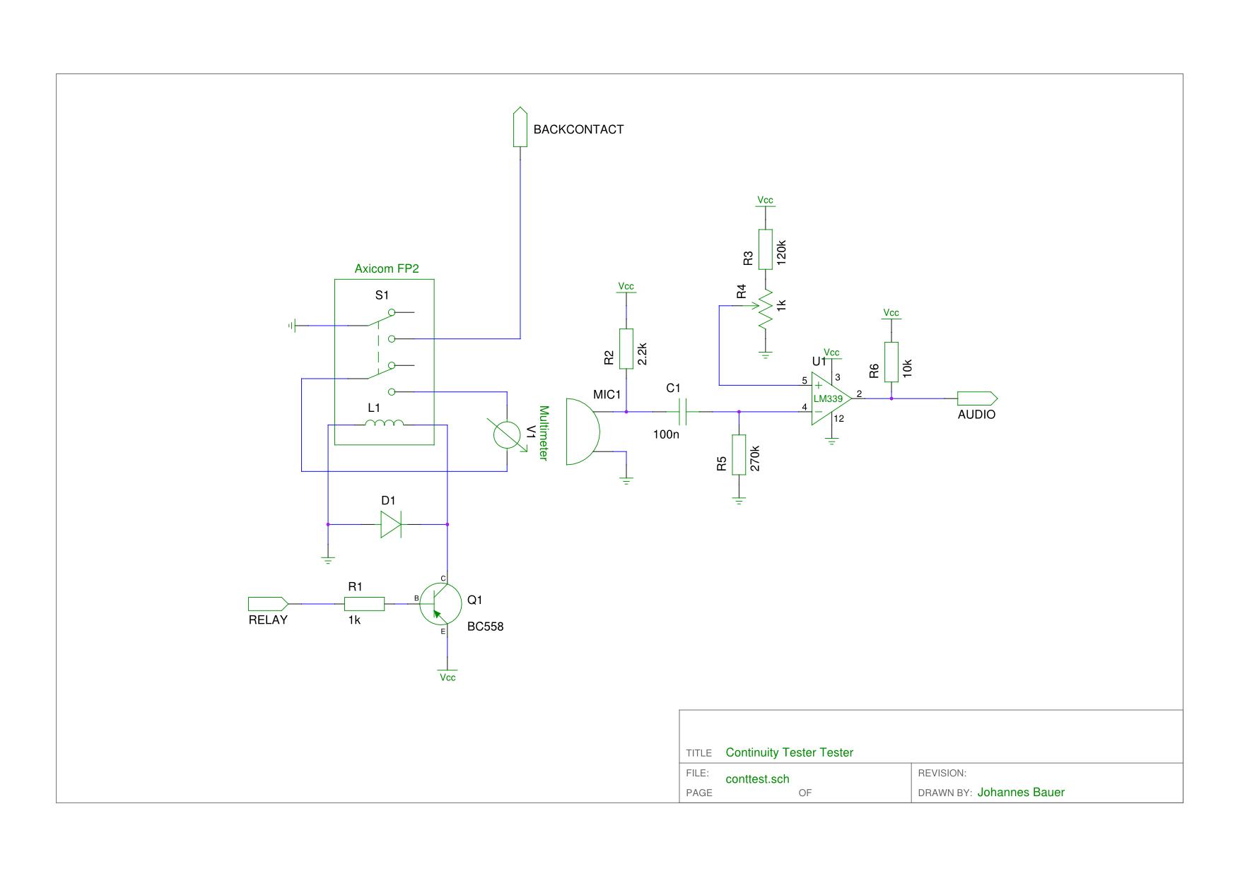 Continuity tester tester continuity tester schematic ccuart Choice Image